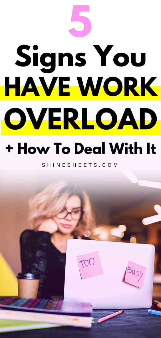 blonde woman with glasses trying to deal with her work overload