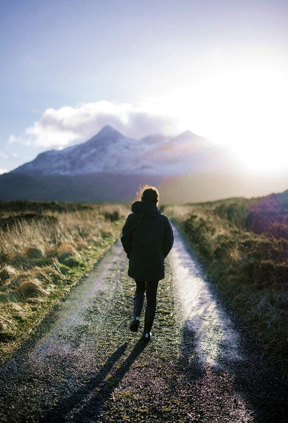 woman walking to feel better