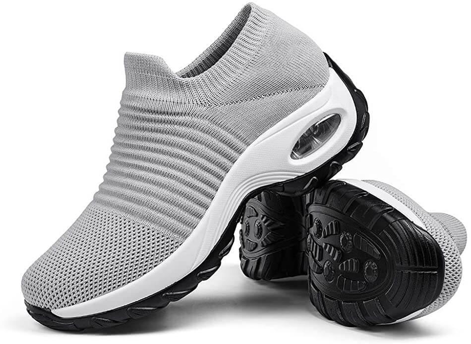 Walking sneakers, slip on sock shoes erfect for walking challenge