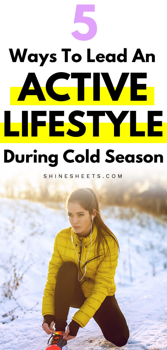 woman in winter clothes preparing for running as part of her active lifestyle