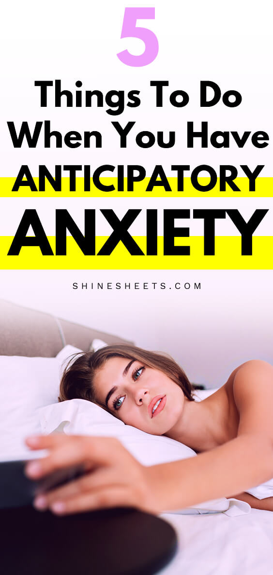 woman in bed with anticipatory anxiety