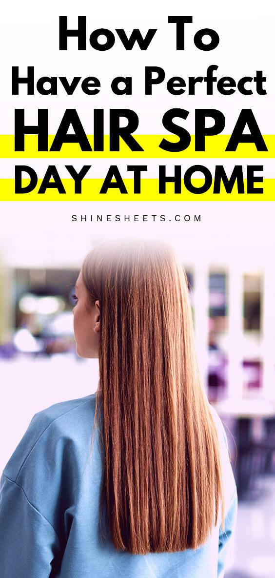woman redhead hair after hair spa