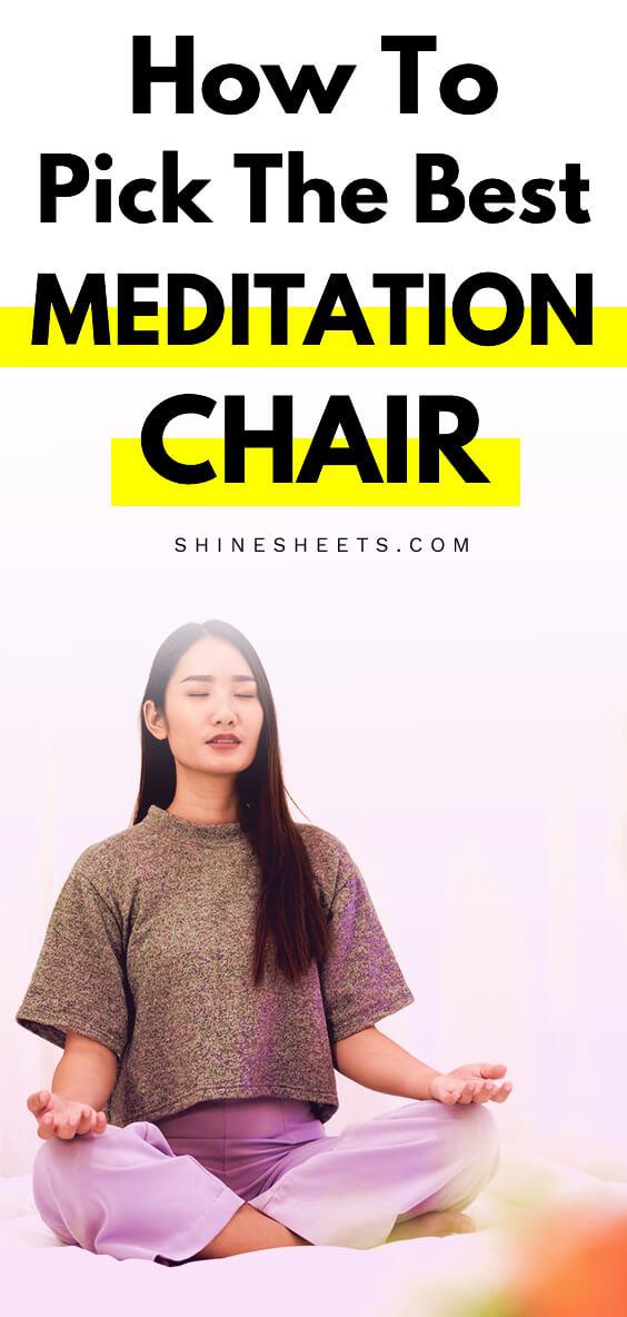 asian woman meditation on a meditation chair