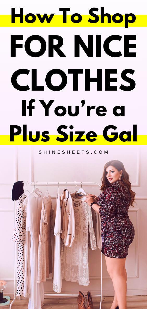 plus size model near the clothes rack
