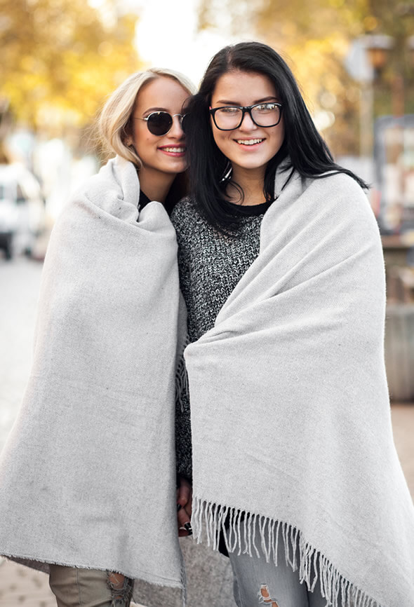 two women going on a walk at fall as part of their active lifestyle