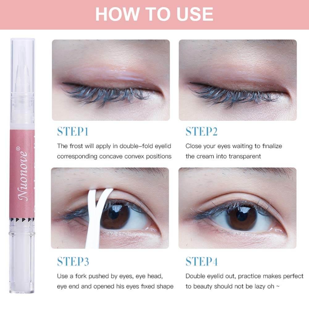 Nuonove double eyelid makeup kit for hooded eyes instruction