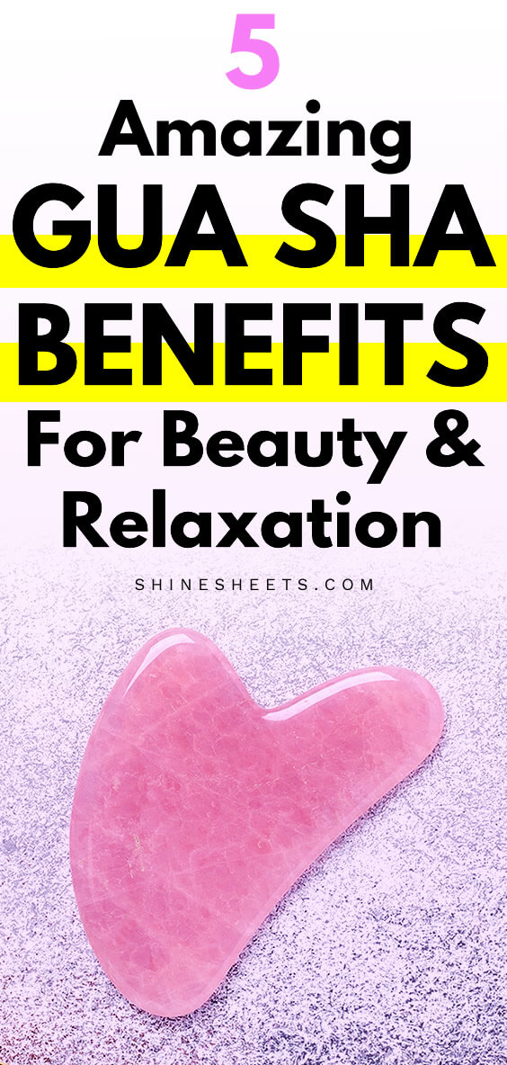 pink gua sha massaga and skin care tool
