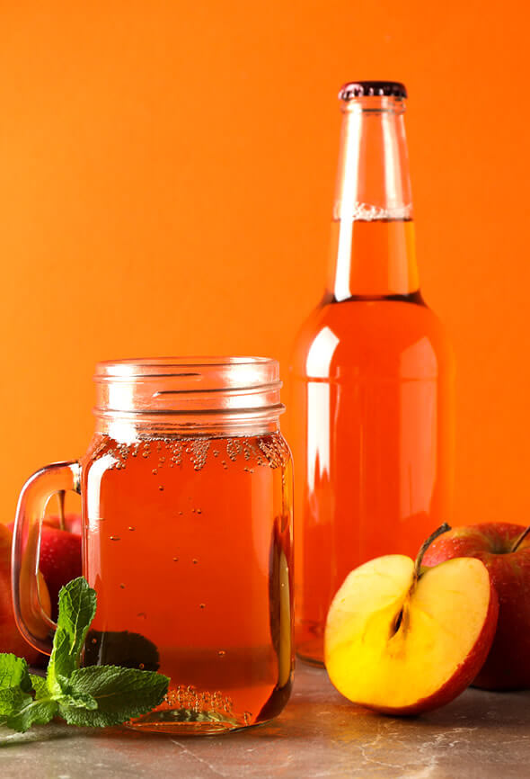 apple cider vinegar for hair rinse concoction and bottle