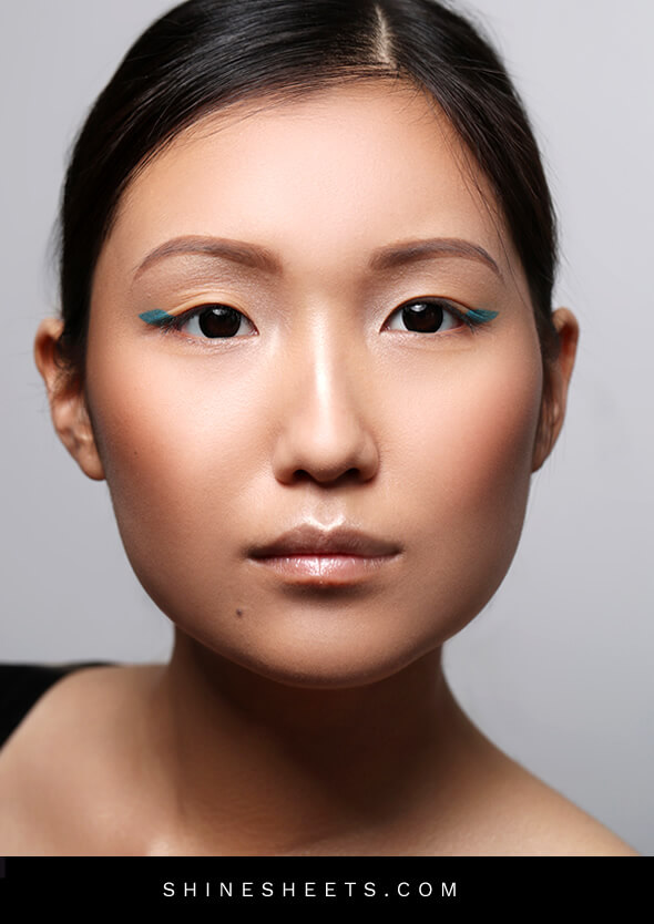 beautiful asian woman with hooded eyes