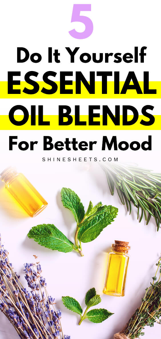 essential oil blends lavender rosemary mint on the table