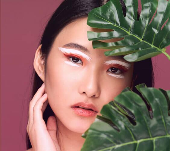 korean skincare model