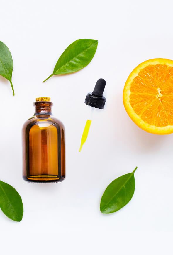 orange essential oil blends bottle