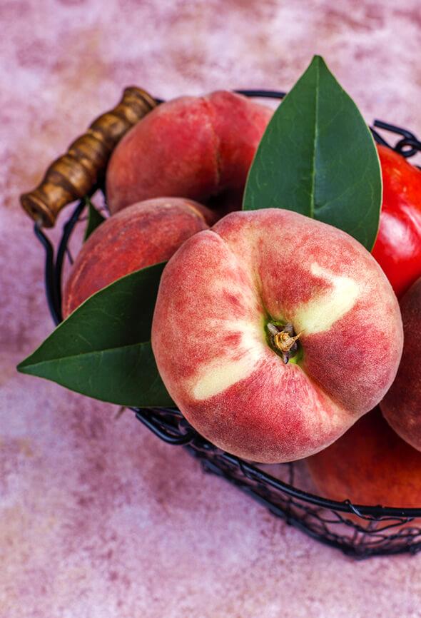 peaches in bag