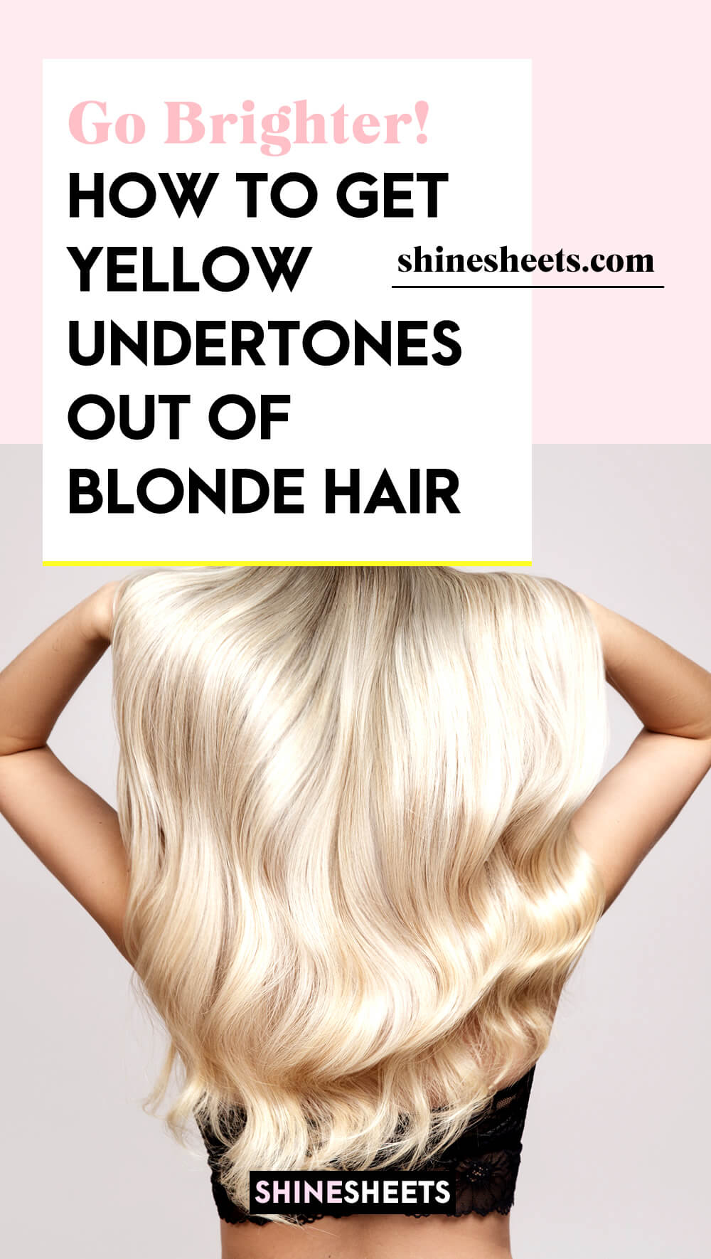 woman with perfect blonde hairflat