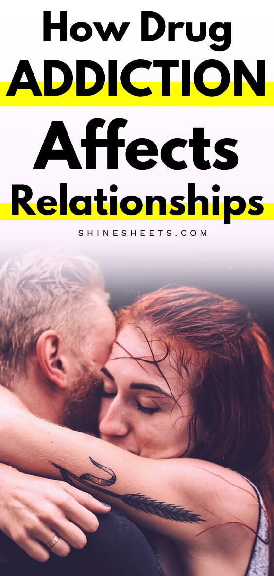 drug addiction and relationships ilustration