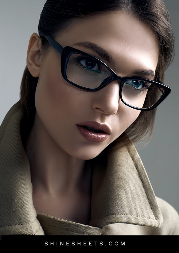 gorgeous woman with glasses as an art for goal oriented attitude quotes for girls