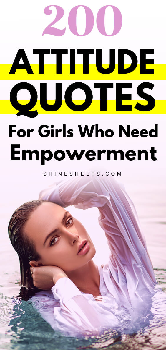 illustration with woman with attitude for attitude quotes for girls