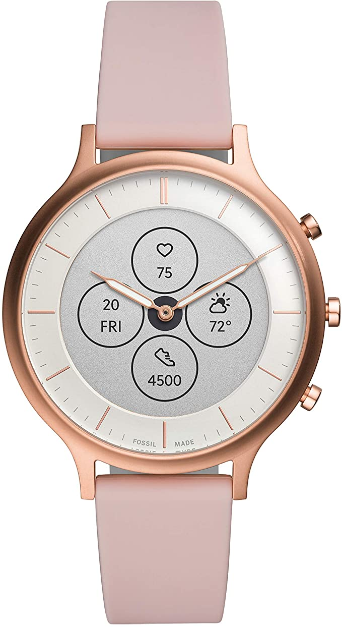 Fossil Women's Charter Hybrid Smartwatch HR with Always-On Readout Display, Heart Rate, Activity Tracking, Smartphone Notifications, Message Previews