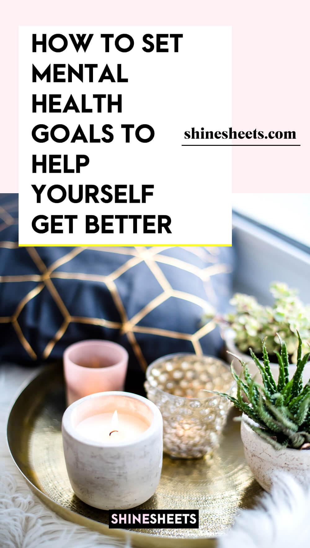 setting mental health goals