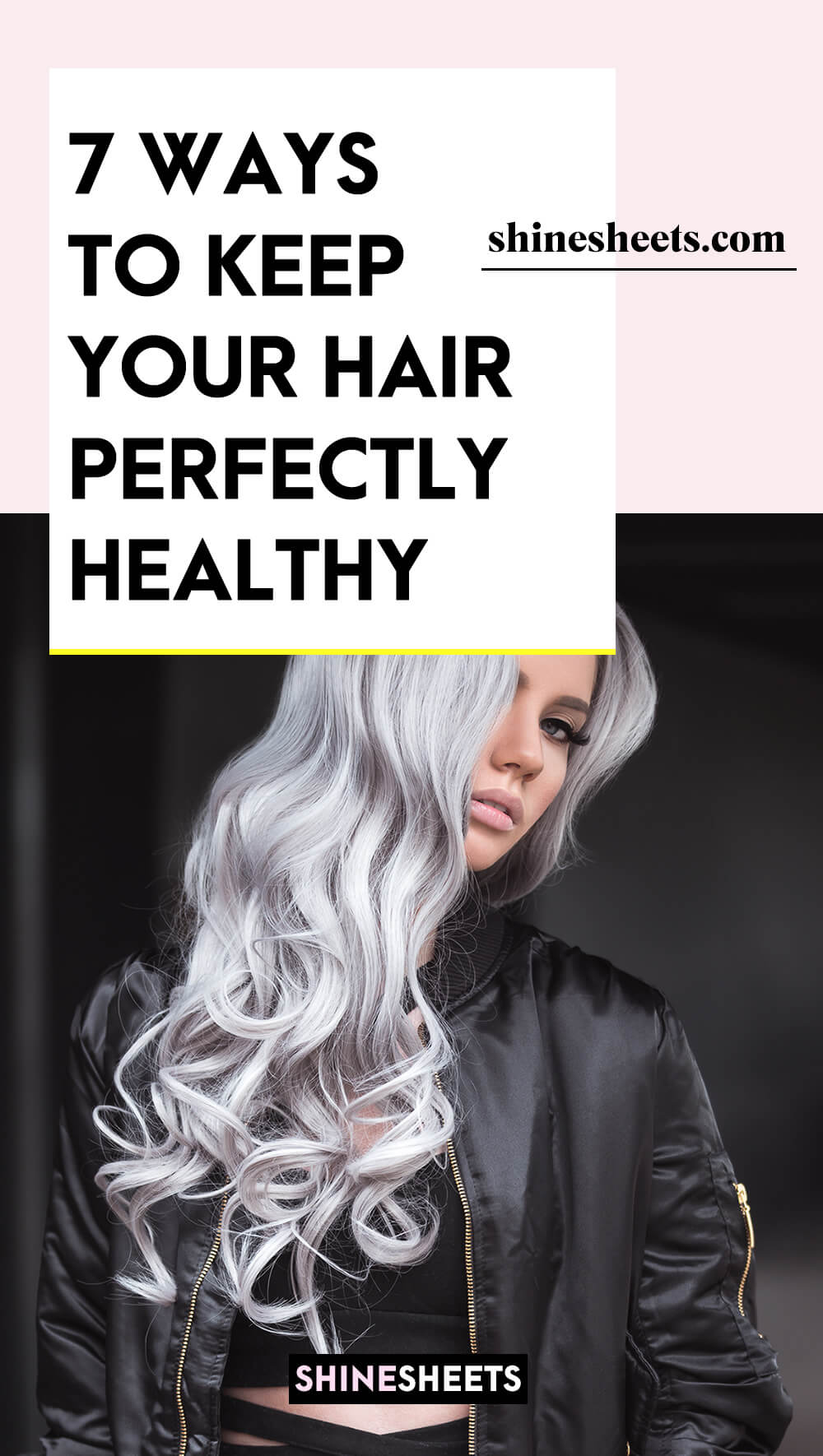 woman with perfect hair health