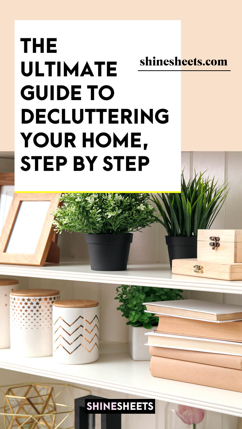 orderly decluttered home