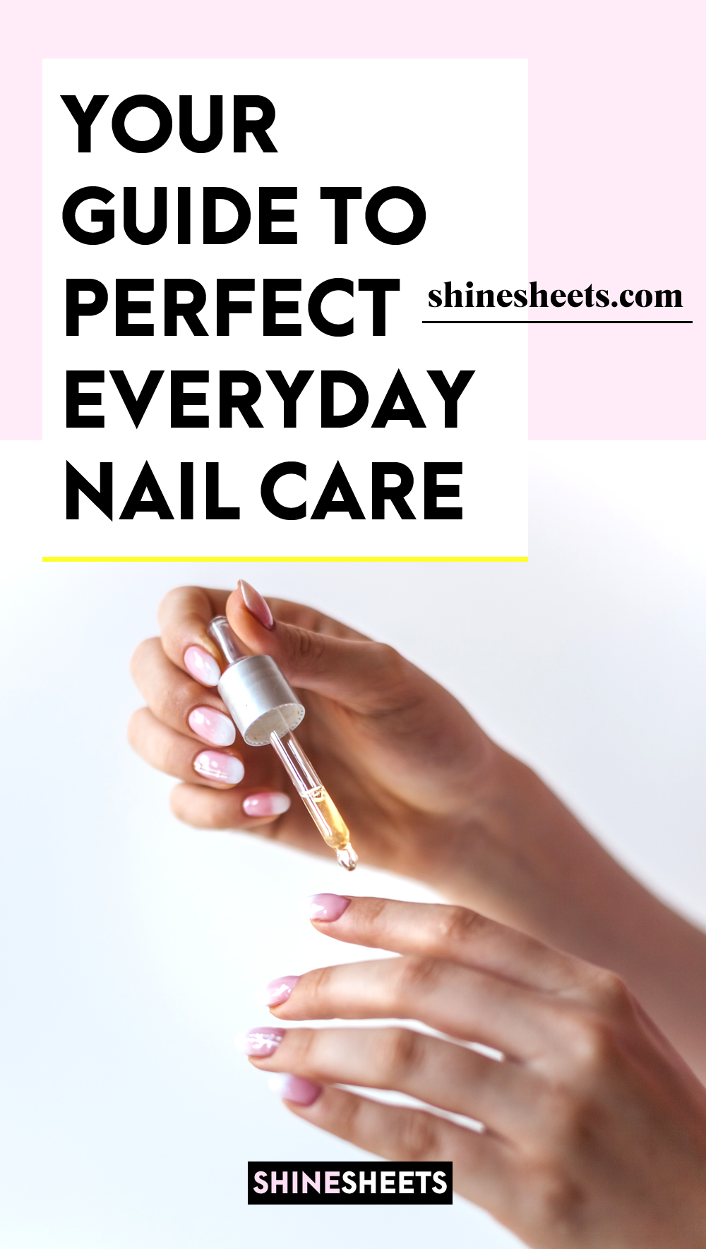 woman doing her everyday nail care