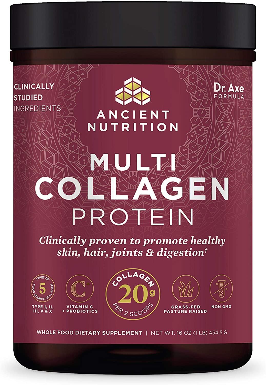 Ancient Nutrition - Multi Collagen Protein Powder - Pure, Collagen Peptides for mature skin