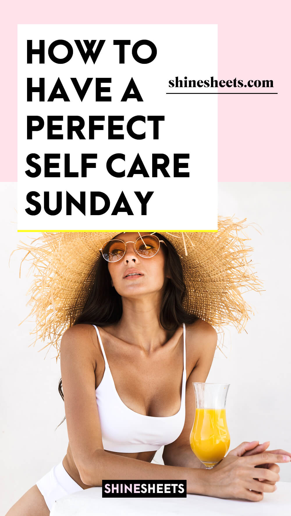 beautiful woman glowing after her self care sunday