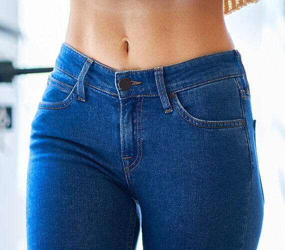healthy woman body fit and strong