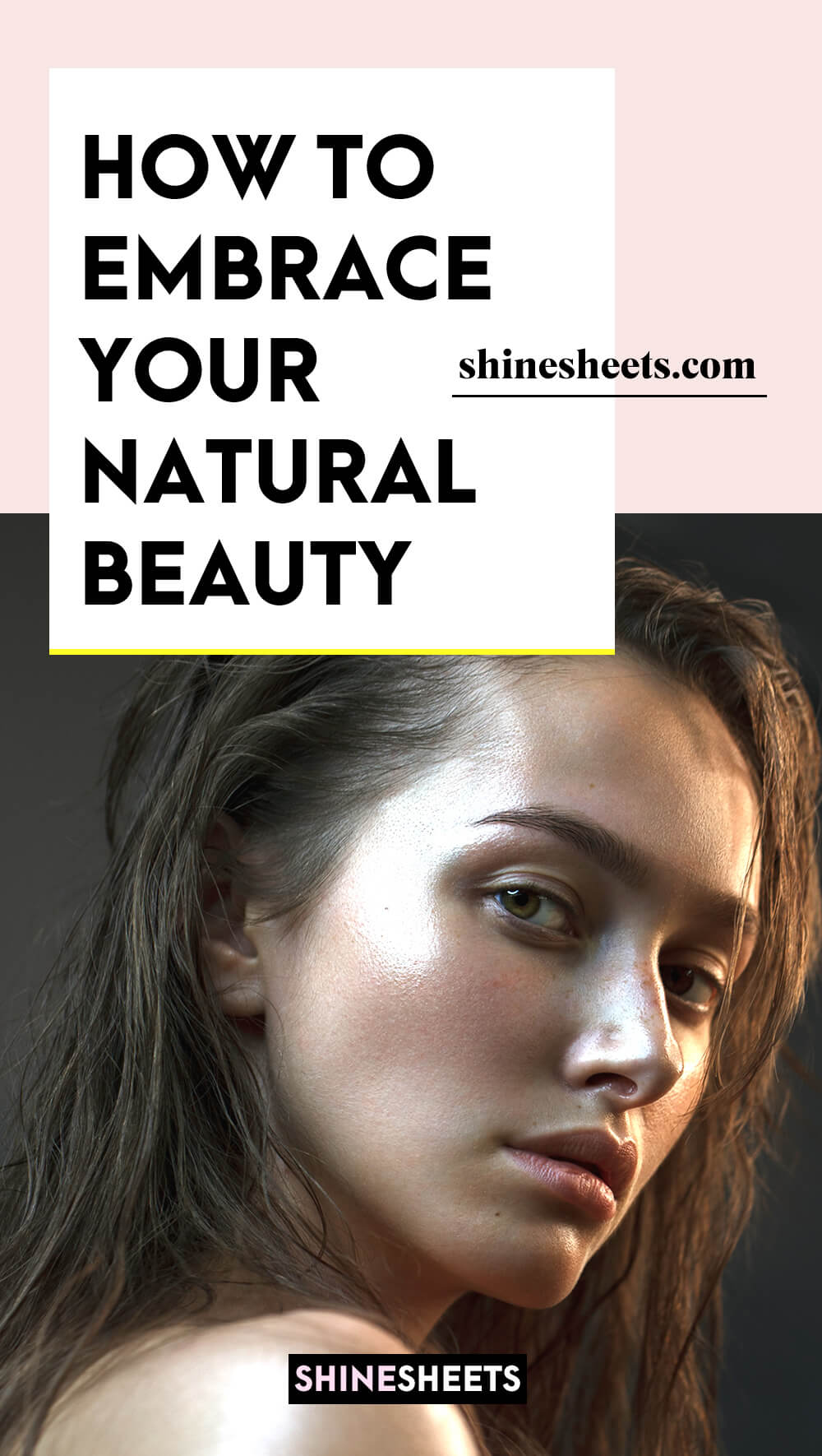 naturally pretty woman embracing her natural beauty
