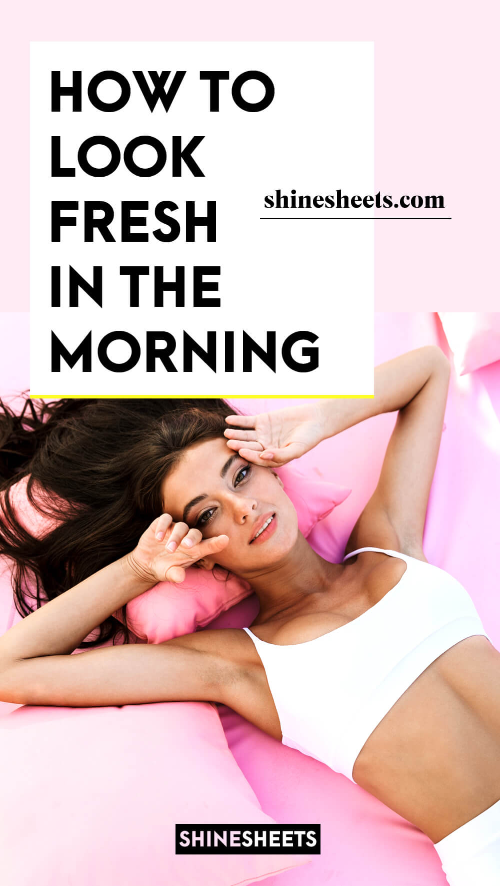 pretty woman as an illustration of how to look fresh in the morning