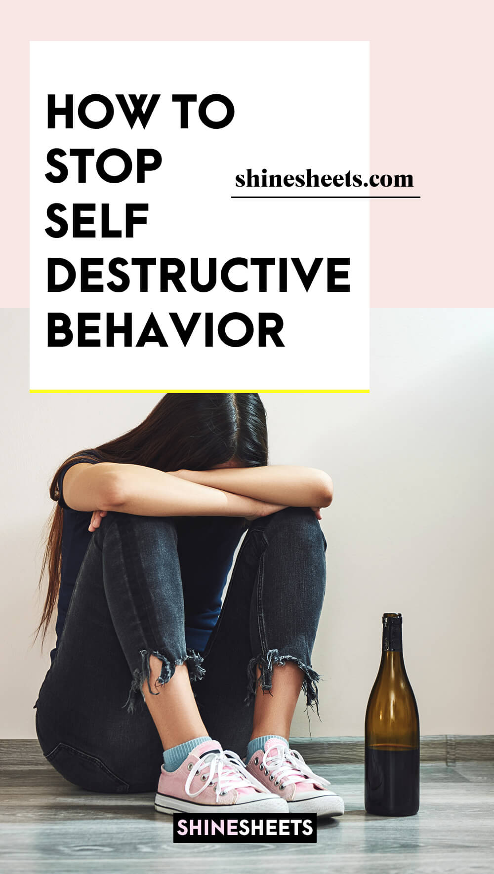 woman engaging in self-destructive behavior