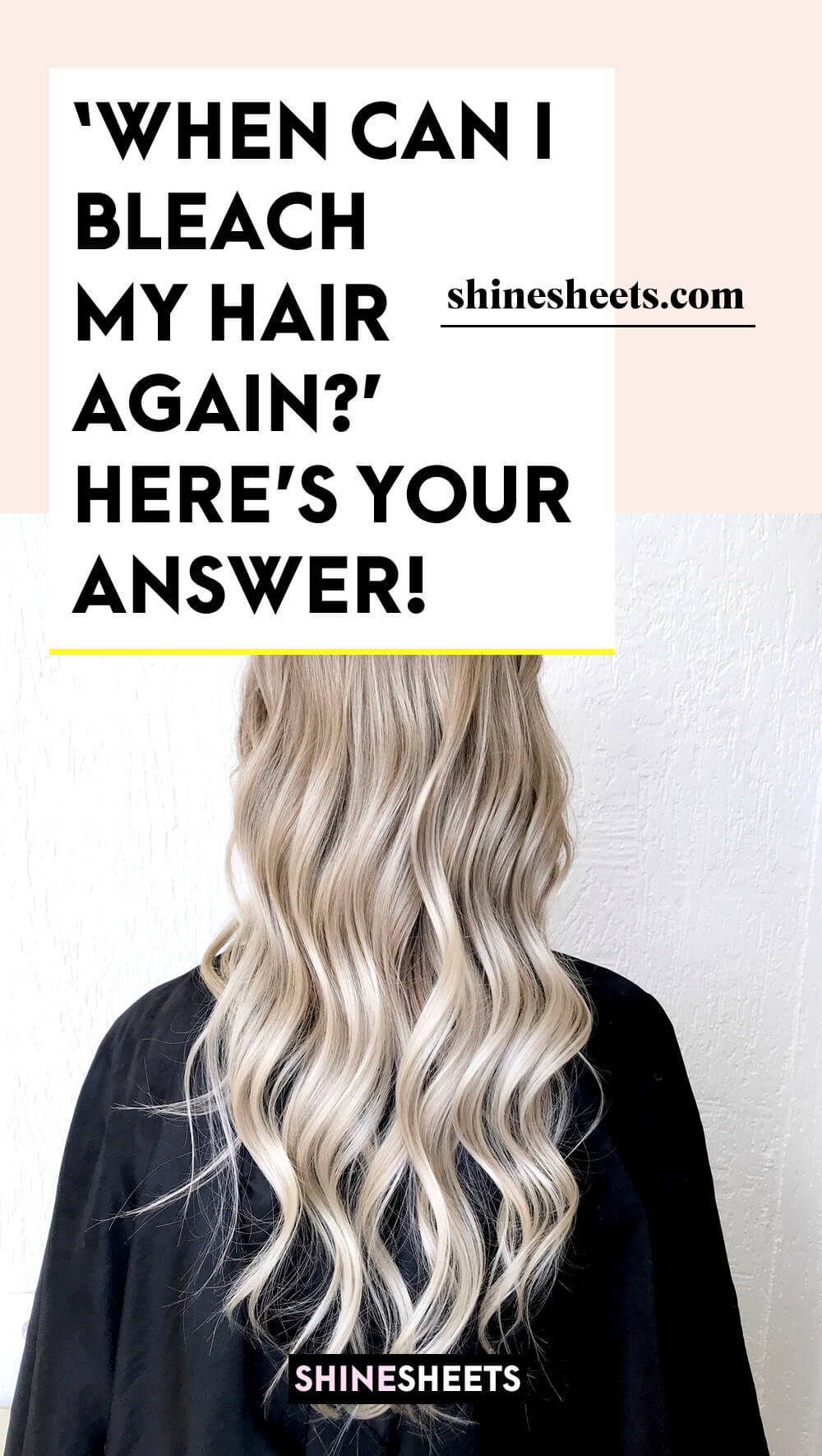 woman with beautiful wavy bleached hair