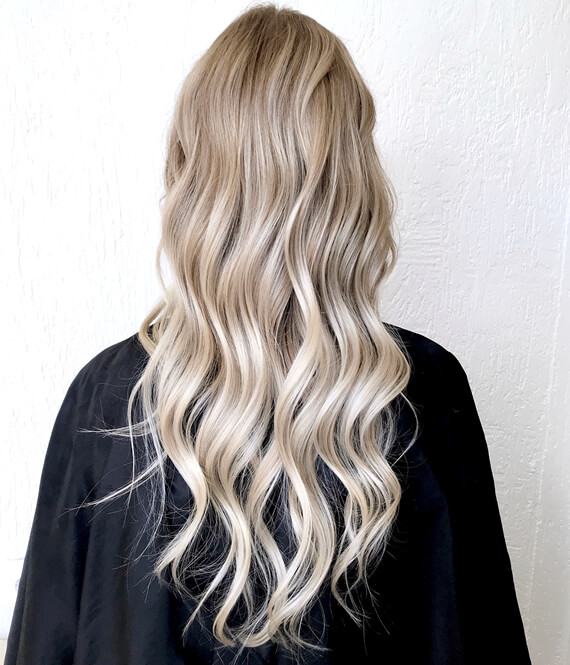 woman with perfect blond hair