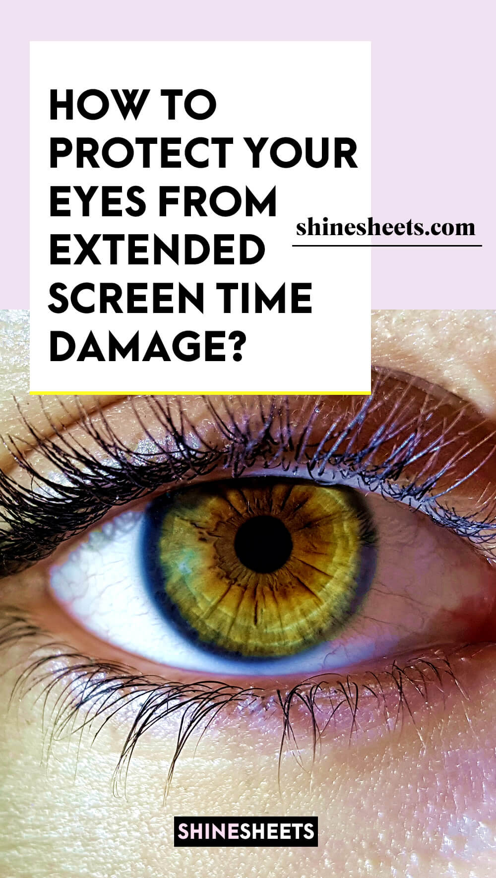 strained eye