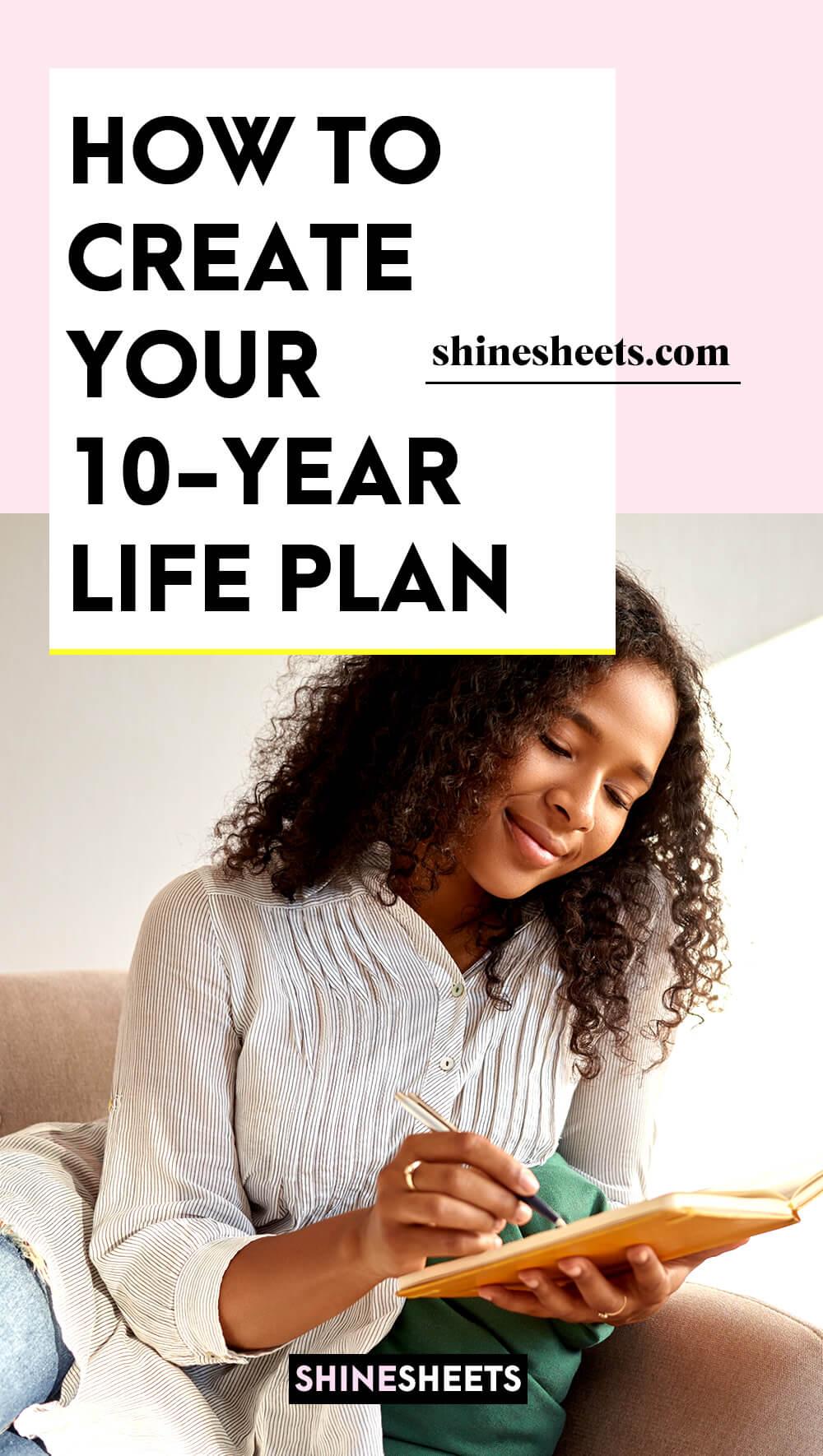 woman creating her 10 year plan