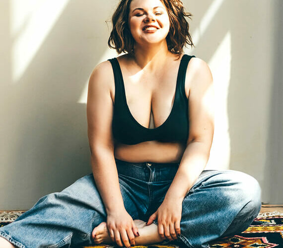 woman plus size model as an example of how to respect your body