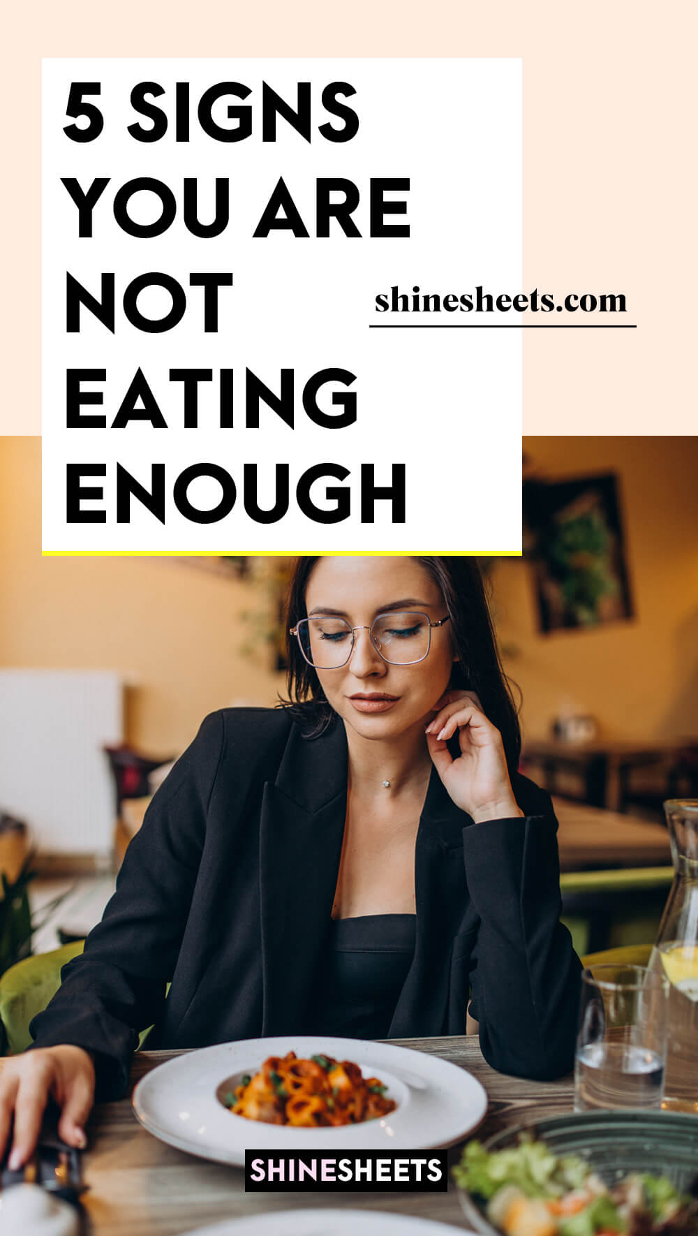 woman who is not eating enough