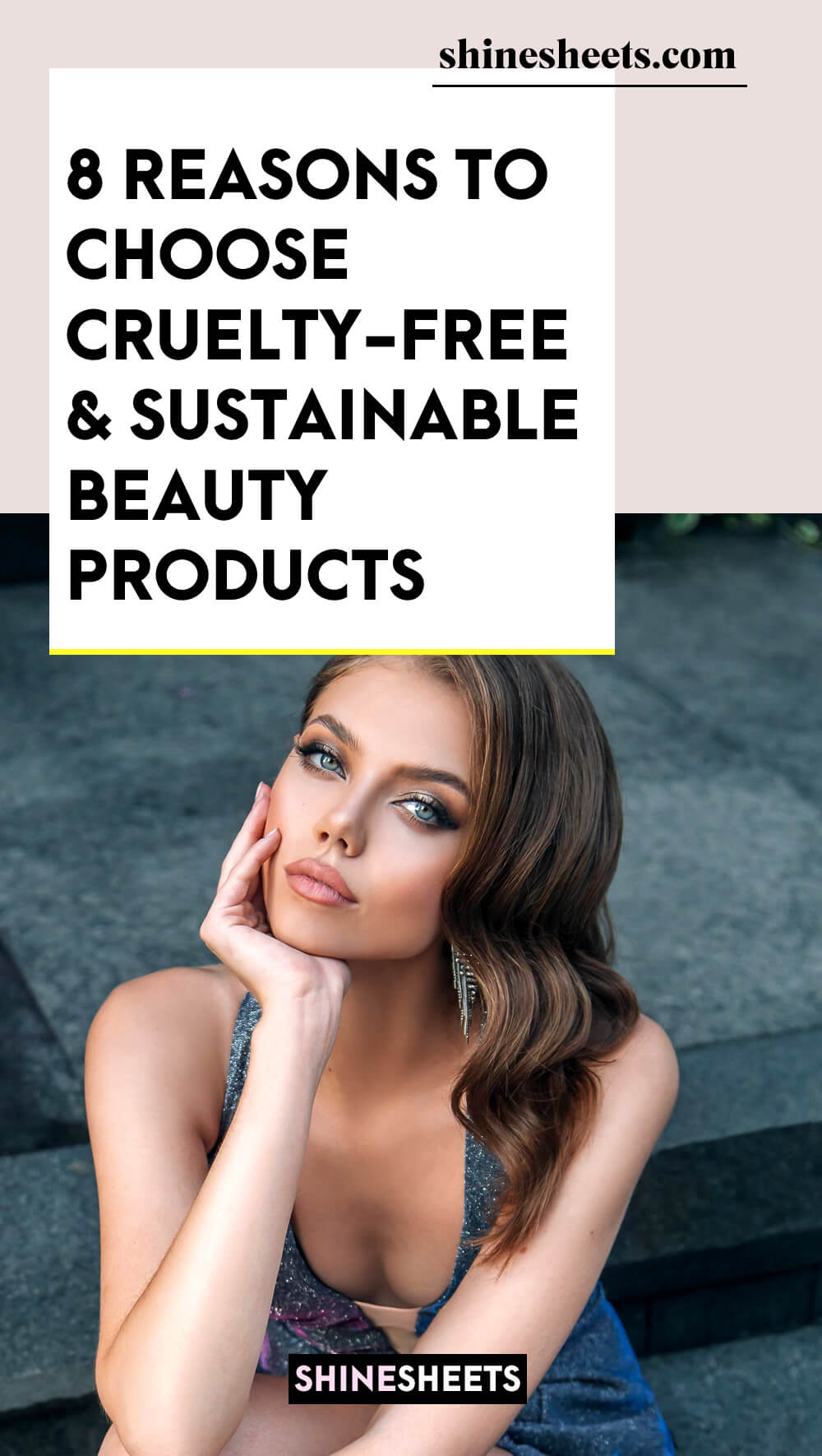 woman who uses cruelty free beauty products