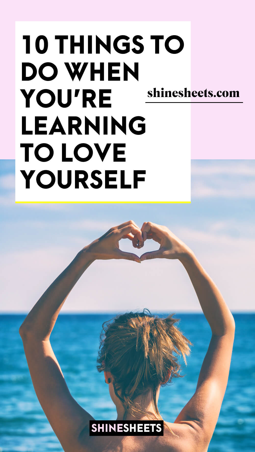 young woman doing meditation when learning to love yourself