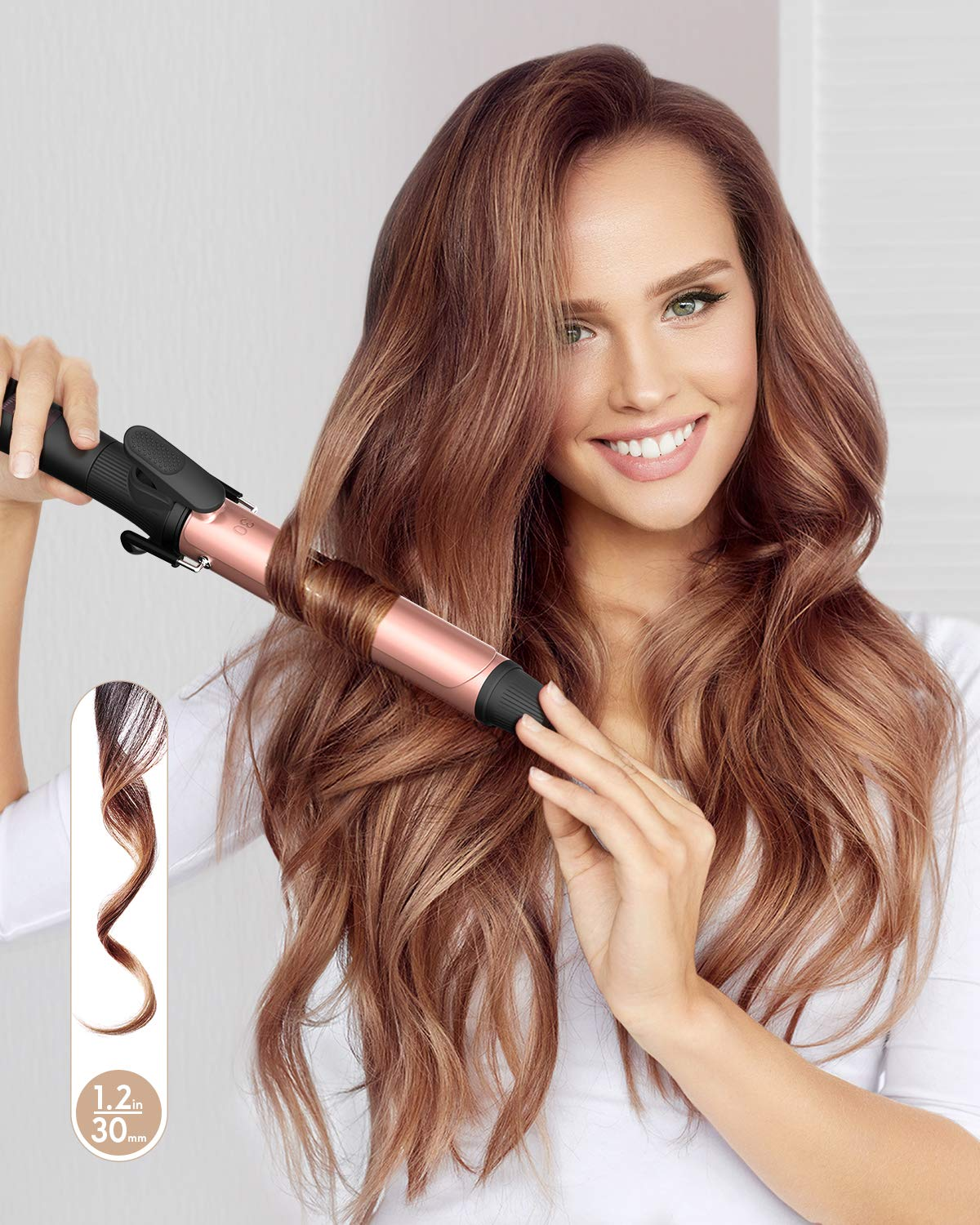 KIPOZI 1.2 Inch Curling Iron with Ceramic Coating Barrel results