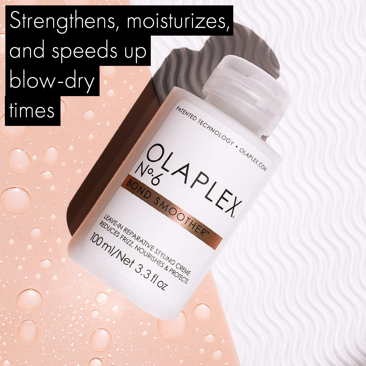 Olaplex No. 6 Bond Smoother styling creme as frizz-reducing conditioner for curly hair