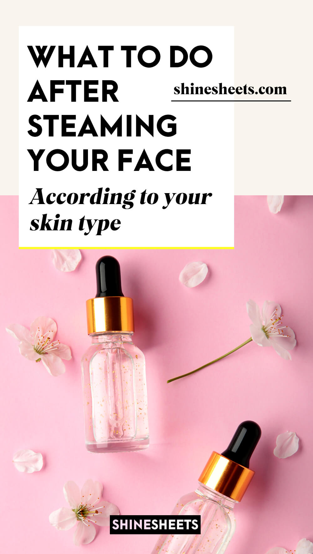 after steaming face care products
