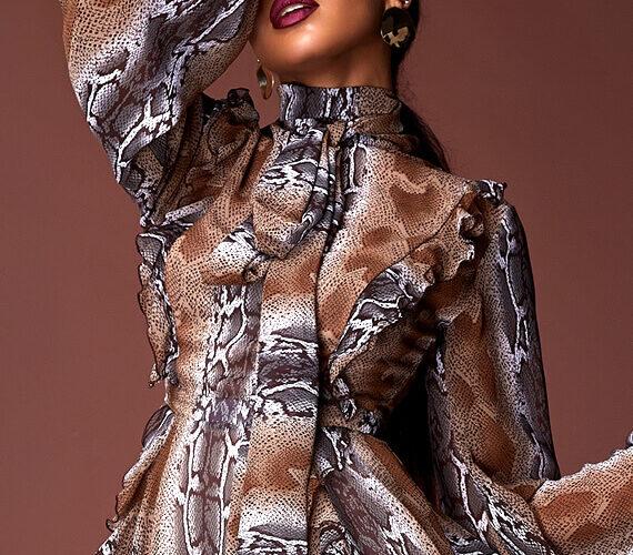 beautiful black woman femme fatale style