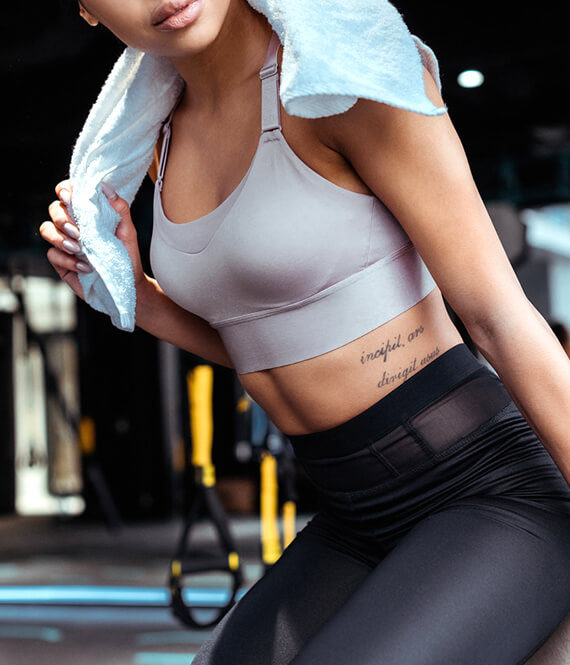 gorgeous fit woman after a workout