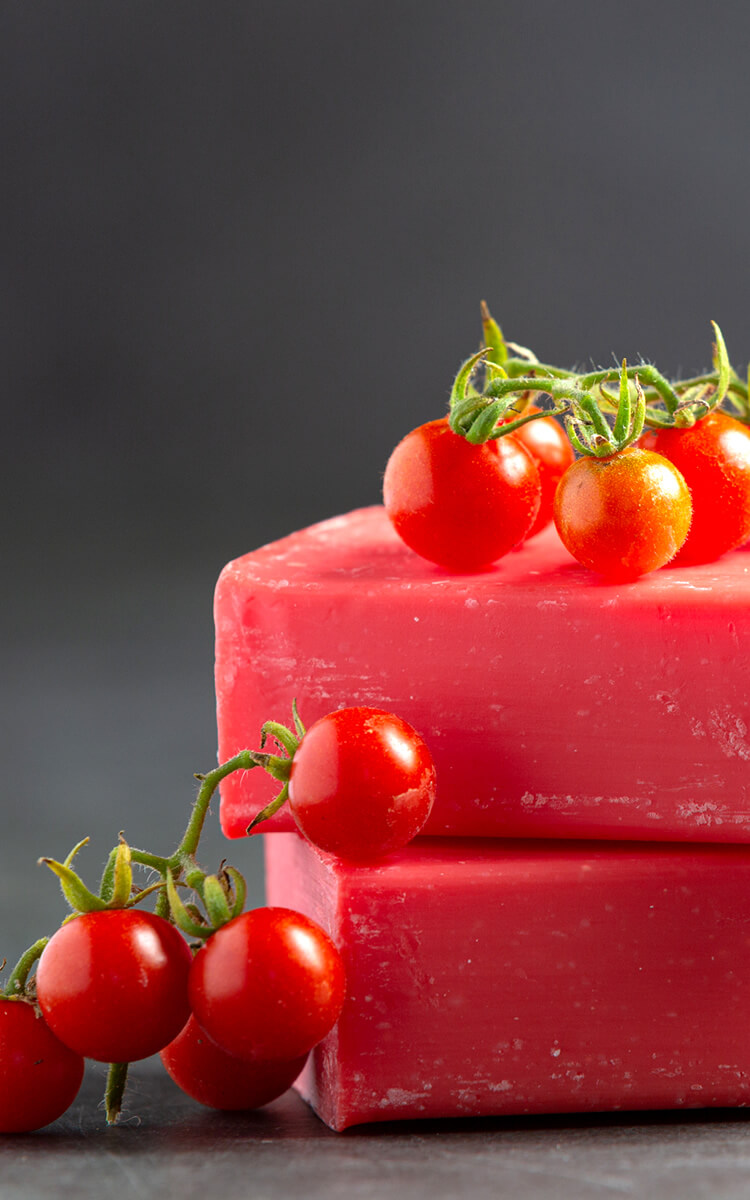 natural soap made with tomatoes