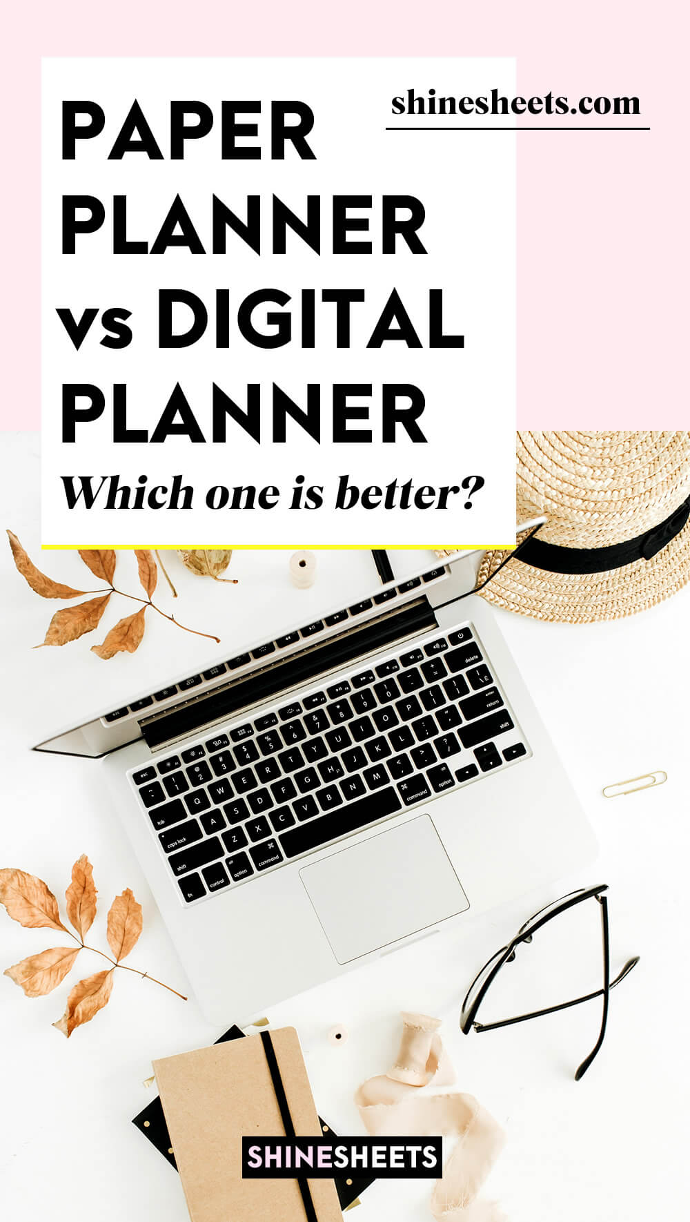 paper planner vs digital planner illustration