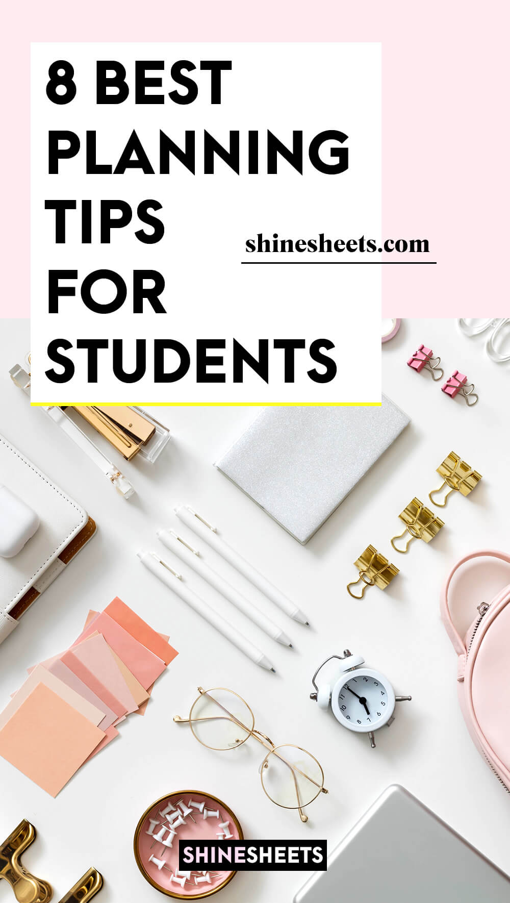 various planning tools for students