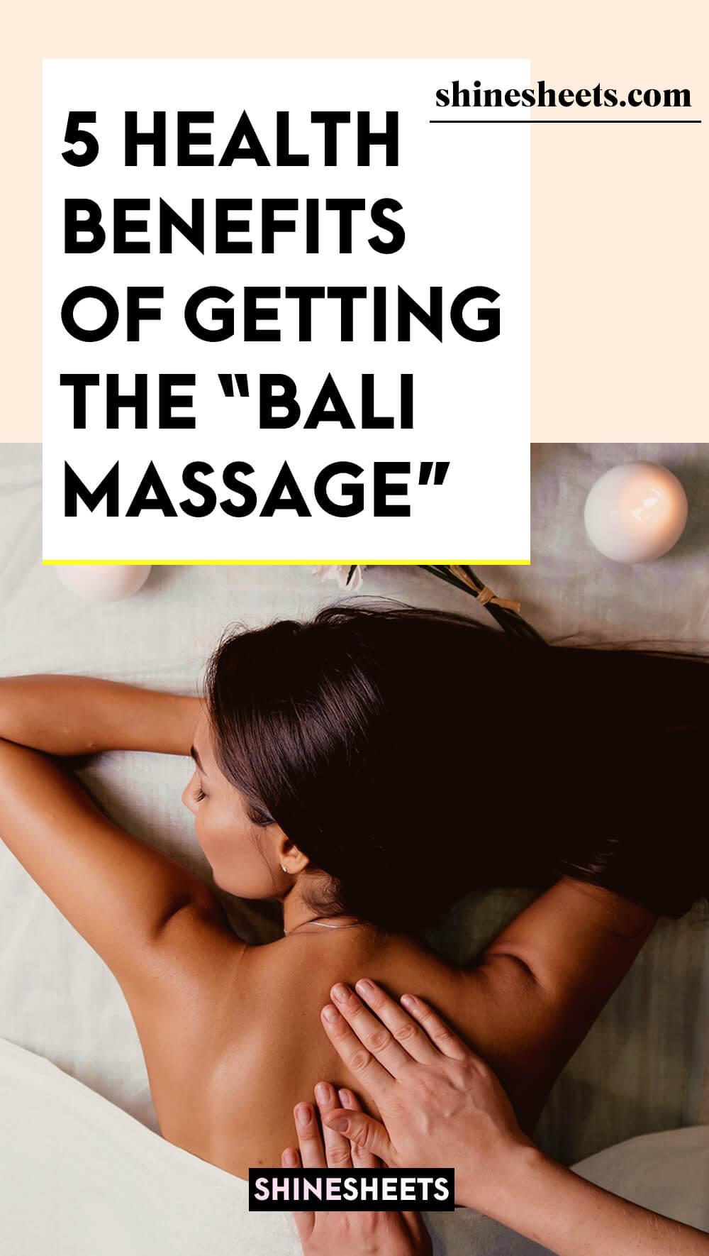 woman enjoying all the benefits of balinese massage