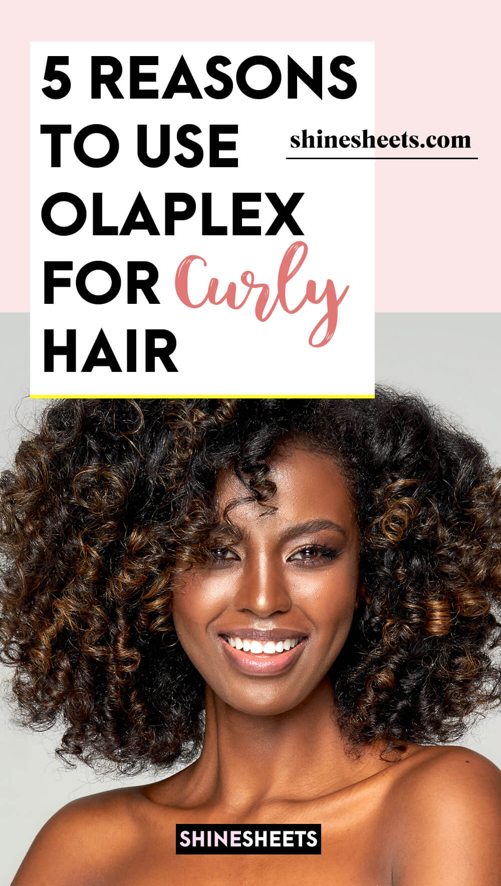 woman happy after using olaplex for curly hair